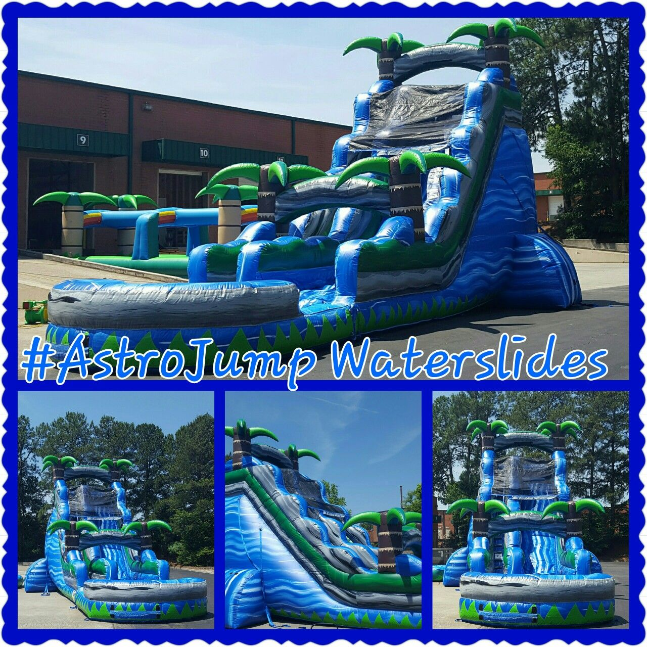 22ft blue lagoon inflatable waterslide rentals from astro