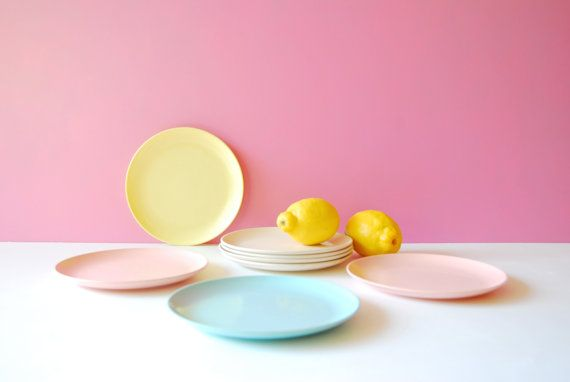 Melmac Plates. Melamine Plates. Vintage Picnic by AntVillage & Melmac Plates. Melamine Plates. Vintage Picnic Plates. Camping ...