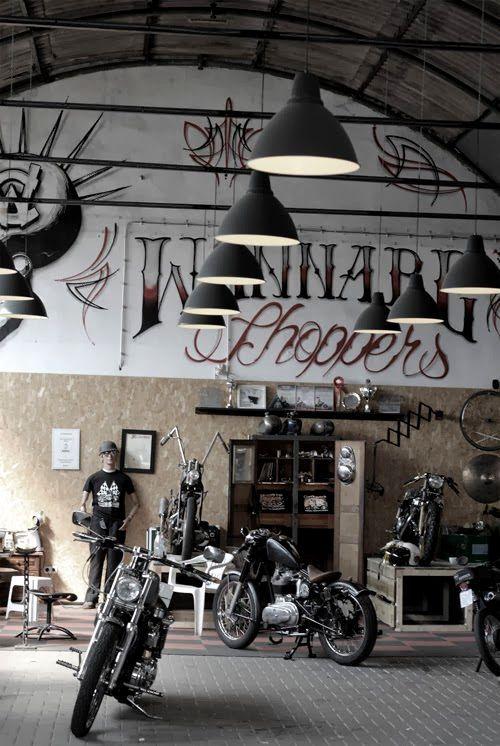 Bikes bobber inspiration bobbers and custom for Garage custom moto