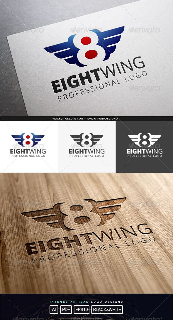 Eight Wing Logo Template  #graphicriver