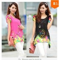 I think you'll like Plus size XXL XXXL XXXXL NEW   summer women fashion elegant floral print chiffon blouses shirts + necklace black,yellow,blue. Add it to your wishlist!  http://www.wish.com/c/5390c27cee5b8623be876c2b