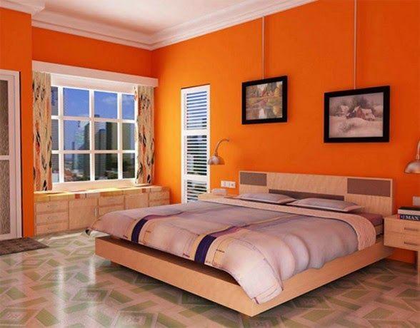 Conceptions chambres à coucher avec l\'orange | Interieur ...