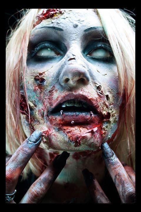 Pin by Rachel on Dark Beauty Pinterest Zombie makeup, Sfx makeup - zombie halloween ideas