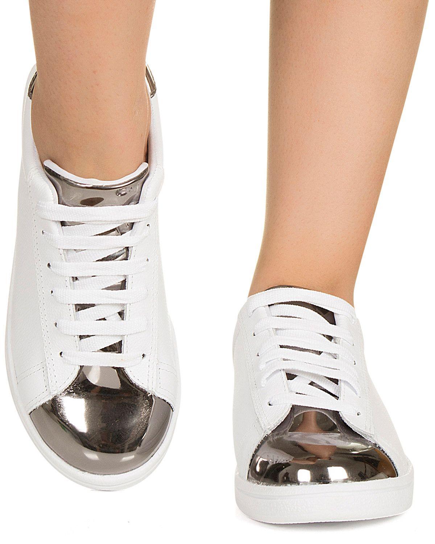 538950ec59d Tênis branco e prata Taquilla - Taquilla - Loja online de sapatos femininos