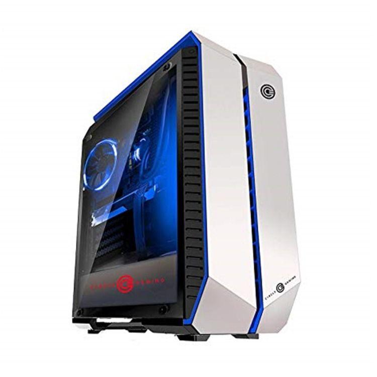 Circle Infernova Z Gaming White Blue ATX Mid-Tower Case