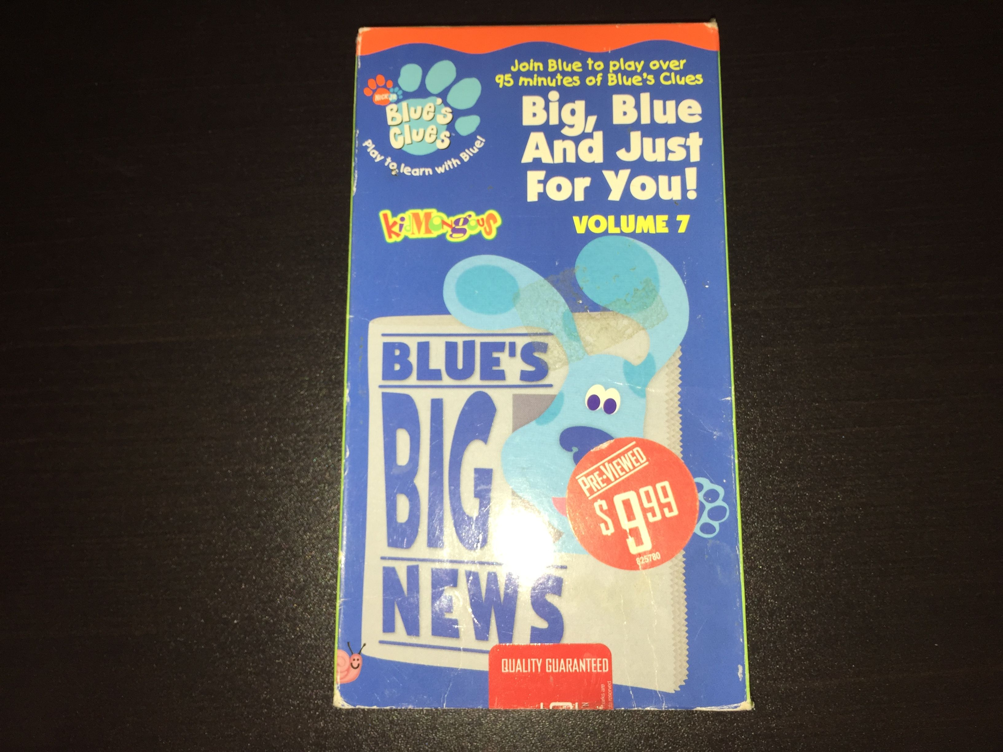 Blue S Clues Big Blue And Just For You Volume 7 2002 Vhs Blue S