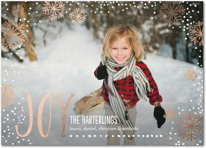 abounding joy foil stamped christmas cards in white or black