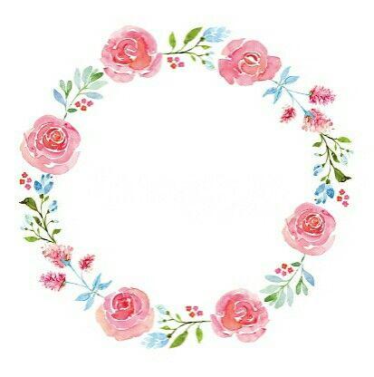 Pin De Zainab Mã En Fond Imagenes De Marcos Acuarela Floral Circulo De Flores