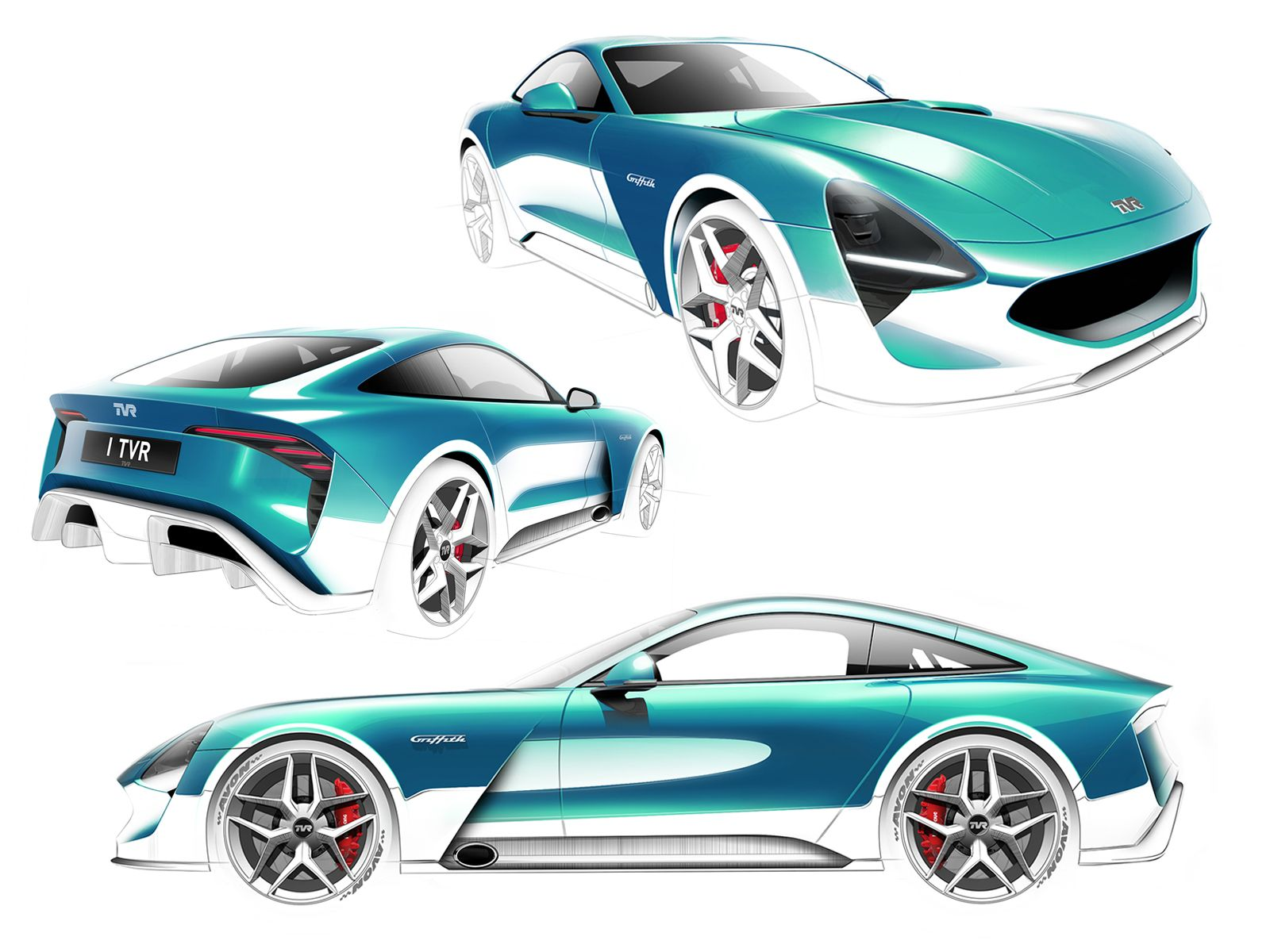 Design Development: TVR Griffith - Car Design News | Car Sketches ...