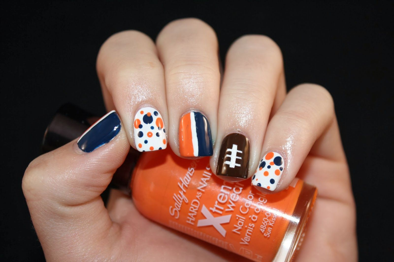 Denver Broncos Nails!   Nails   Pinterest   Denver broncos nails and ...