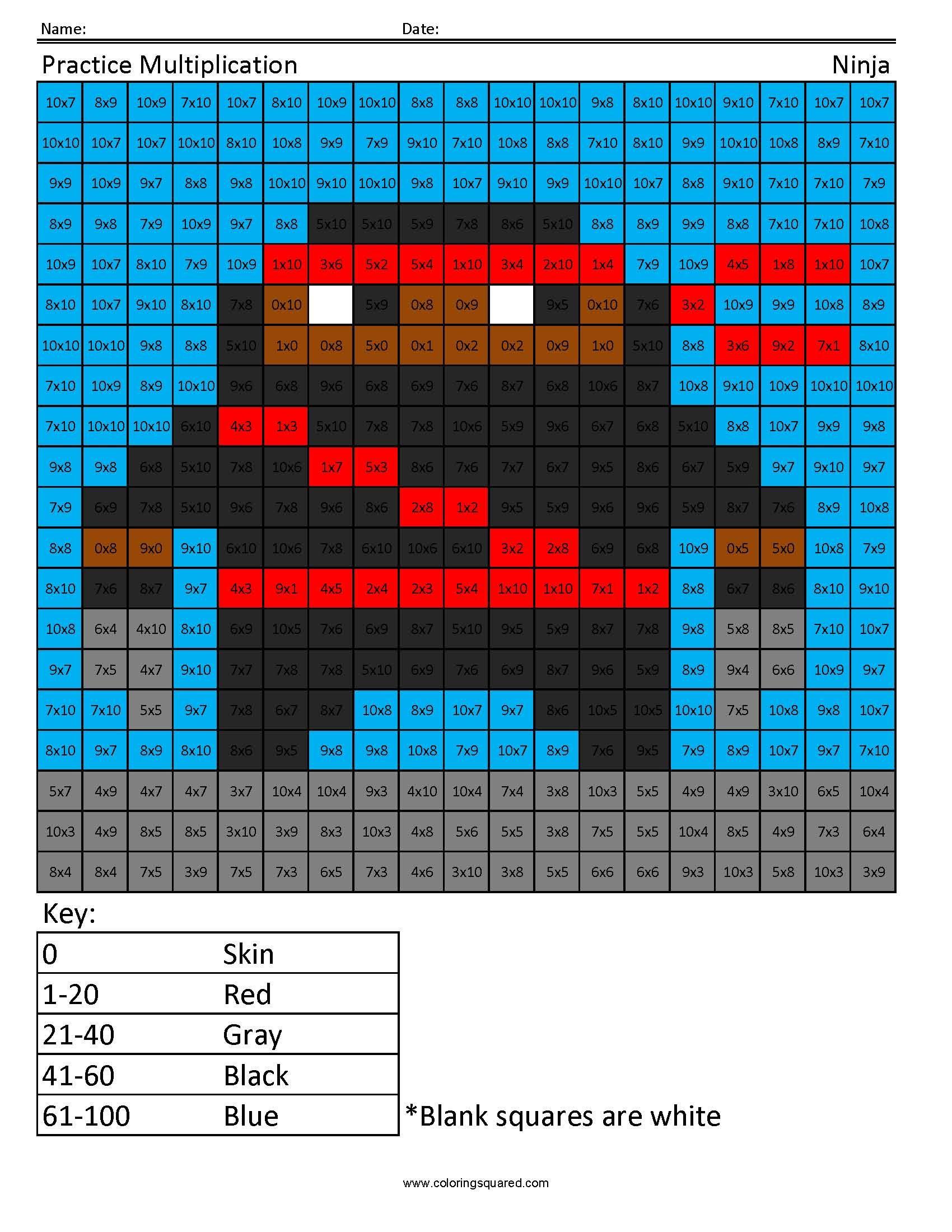 Practice Multiplication Ninja