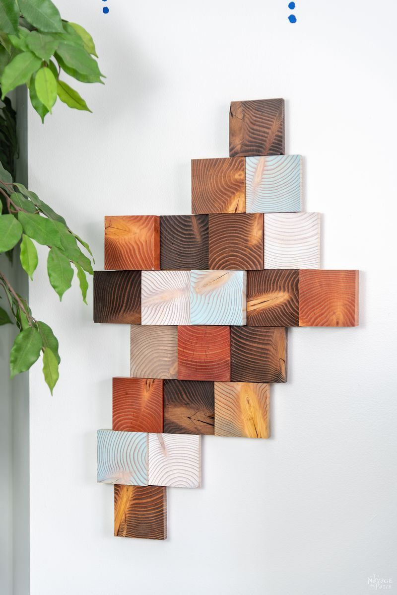 Diy Wood Wall Art Make Art From Scrap 4x4 Lumber The Navage Patch Wood Wall Art Diy Wooden Wall Hangings Diy Wood Wall