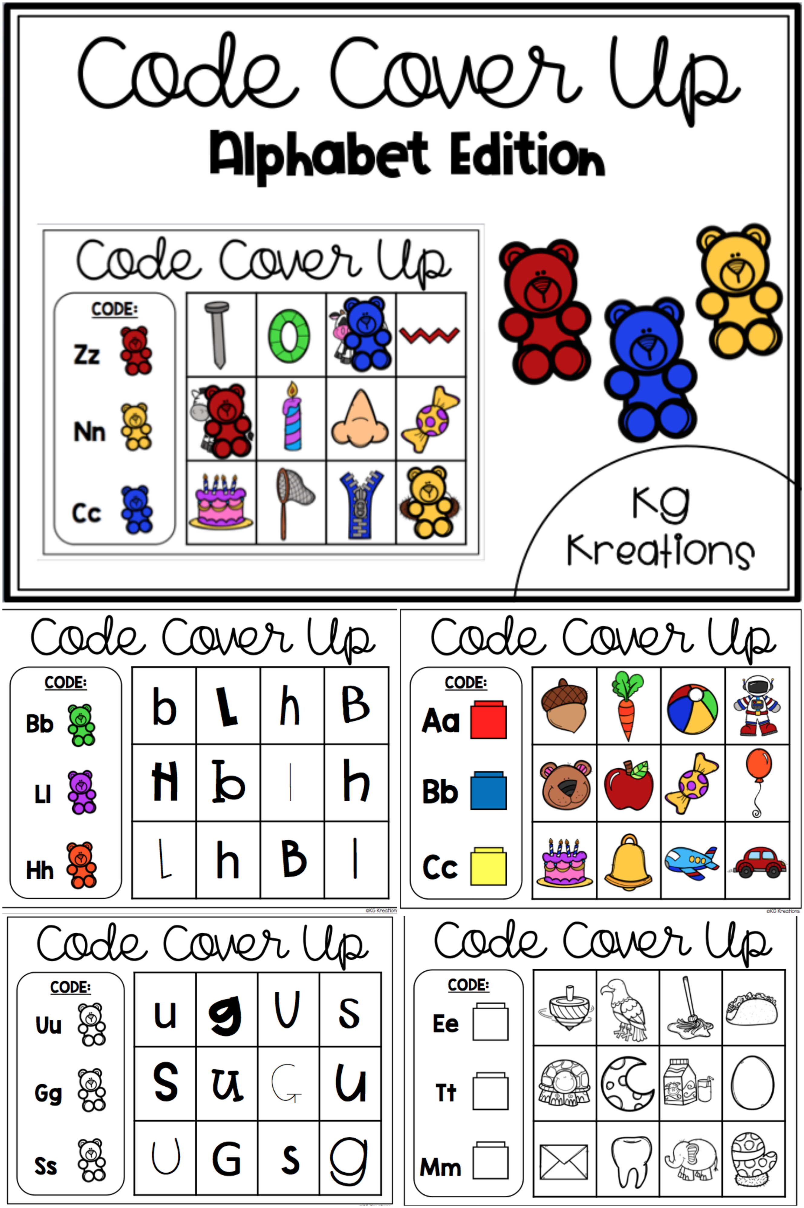 Letters And Sounds Code Cover Up