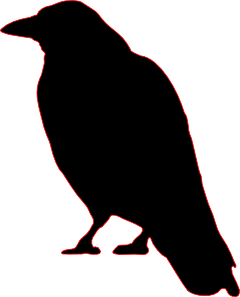 crow silhouette clip art cutout for halloween pinteres rh pinterest com au raven clipart black and white raven clip art free