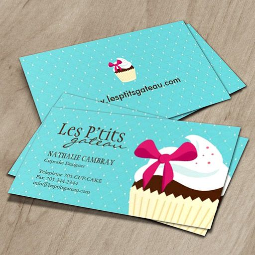 Cupcake bakery business card bakery business cards bakery cupcake bakery business card fbccfo Image collections