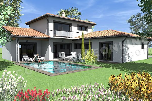 plan de maison moderne etage LISBON 2 idée maison Pinterest
