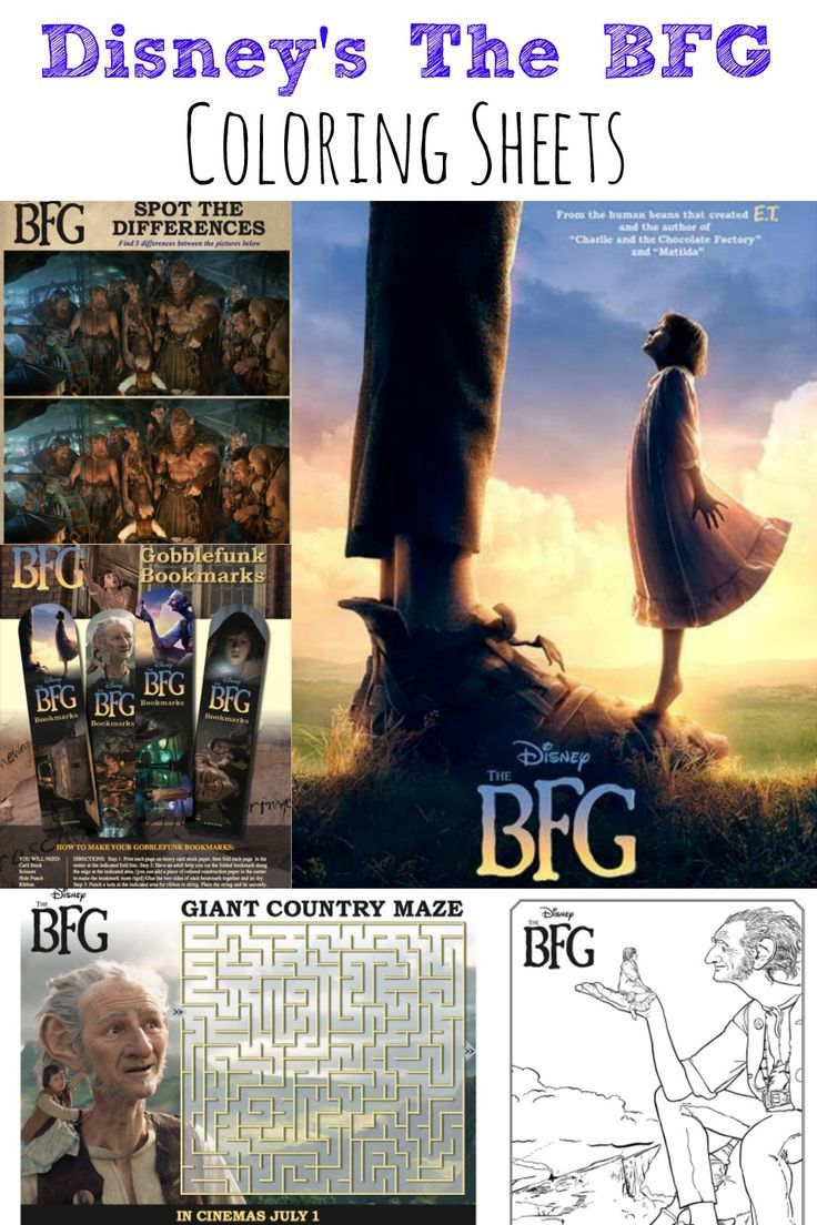 Disneys The BFG Coloring Pages Activities Sheets Maze And So Much More