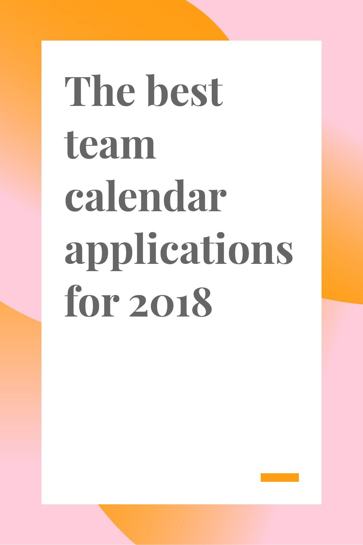 Best Team Calendar Applications For 2018 Teamweek Team