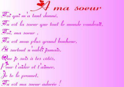 Poeme Pour Ma Belle Soeur Pour Son Anniversaire