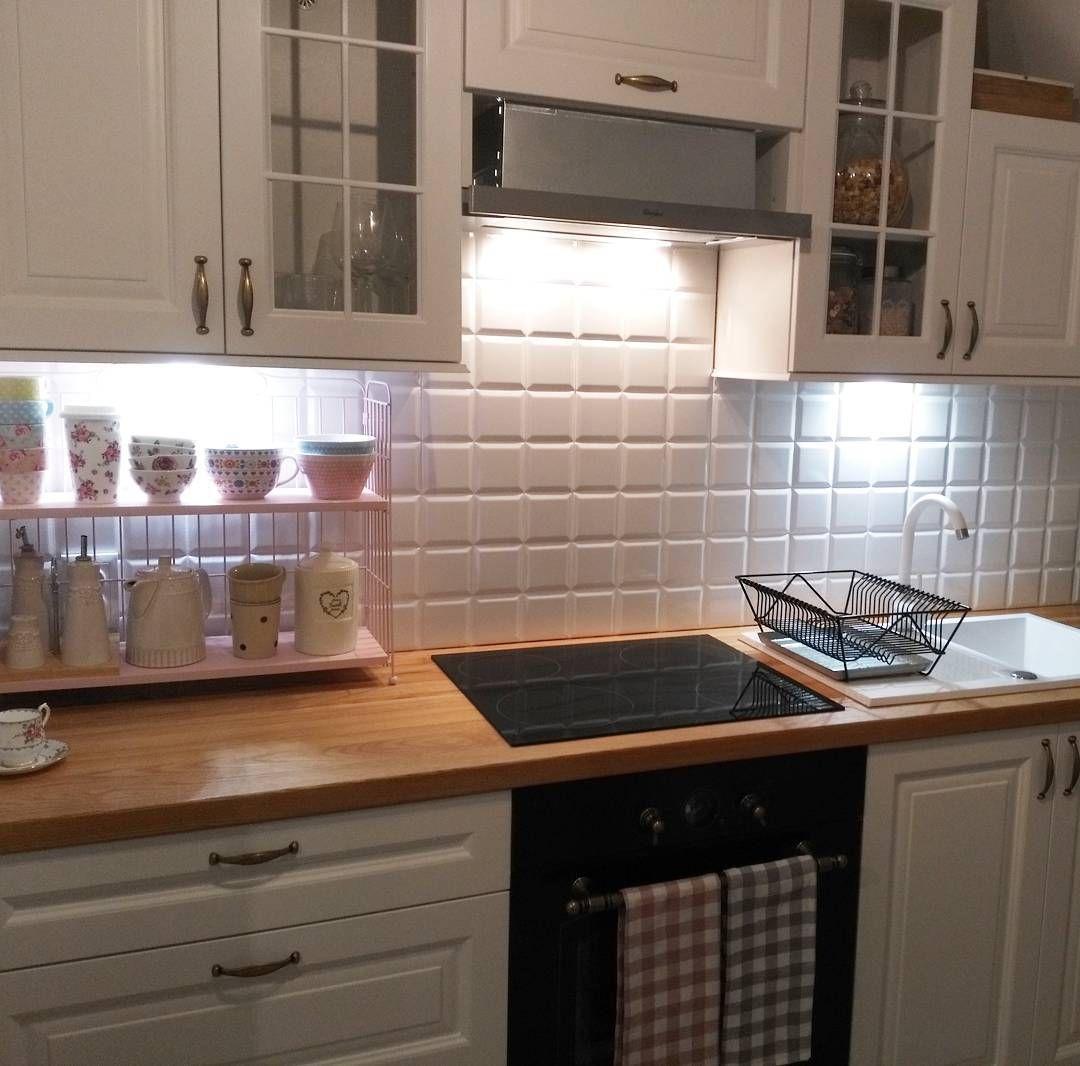 Juz Prawie Gotowa Myhome Mykitchen Kitchendesign Kitchen Whitekitchen Bialakucgnia Kuchnia Sweethome Naszem Nasze Kitchen Kitchen Cabinets Decor