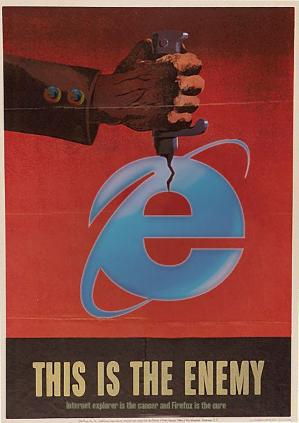 IE- The Enemy: I am sure 99% of web designers ...hmm...no no 100% all the web designers will like this pin