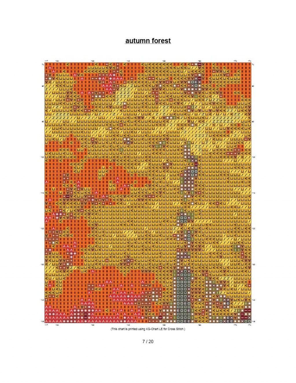 cruz floresta livre padrão de ponto no outono floresta outonal 008