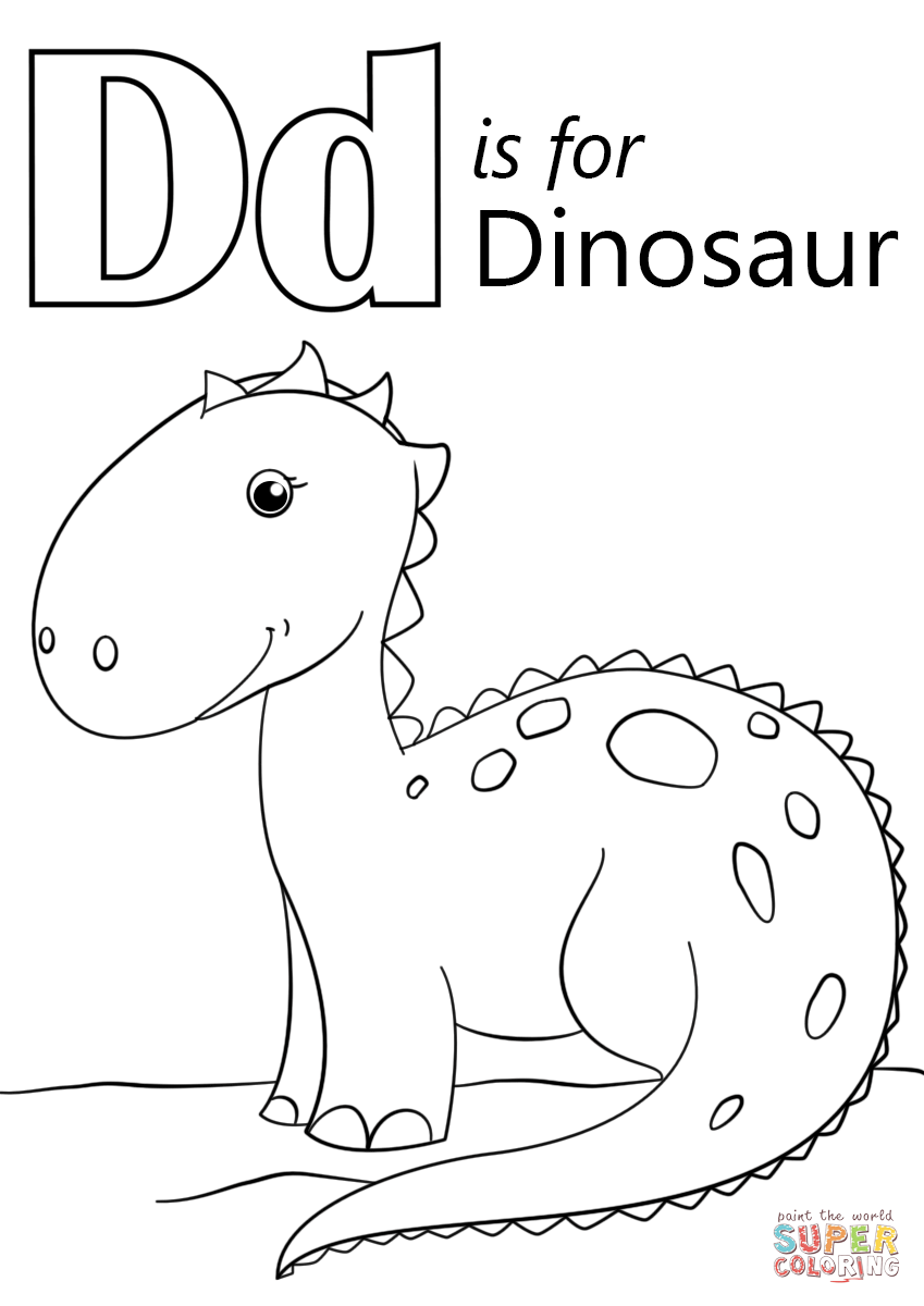 Coloring pages for letter d - Letter D Is For Dinosaur Coloring Page From Letter D Category Select From 24652 Printable Crafts Of Cartoons Nature Animals Bible And Many More