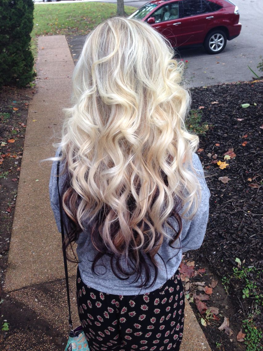 Platinum Highlights With A Dark Purple Layer Underneath Perfect Kenracolor Alluringbeautystudio Blonde Hair Color Brown Hair Looks Brown Hair Trends