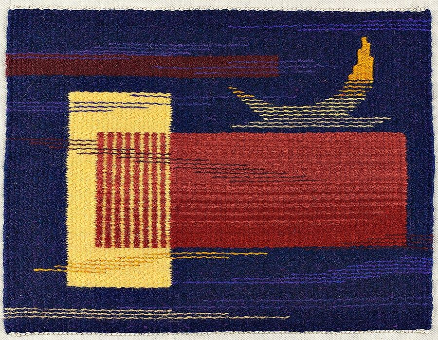 """TAPESTRY WEAVERS in NEW ENGLAND: TWiNE 2014 -  Katie Hickey, """"Moon Over Albers"""""""