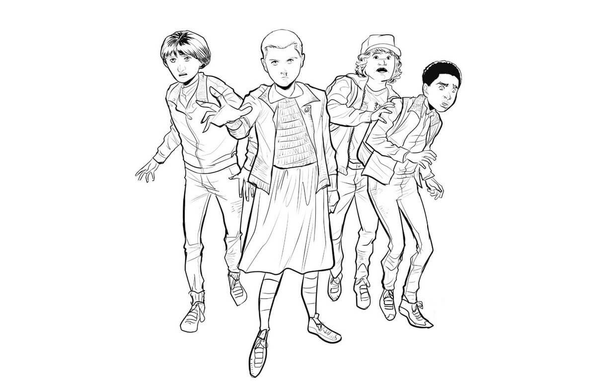Free Printable Stranger Things Coloring Pages Stranger Things