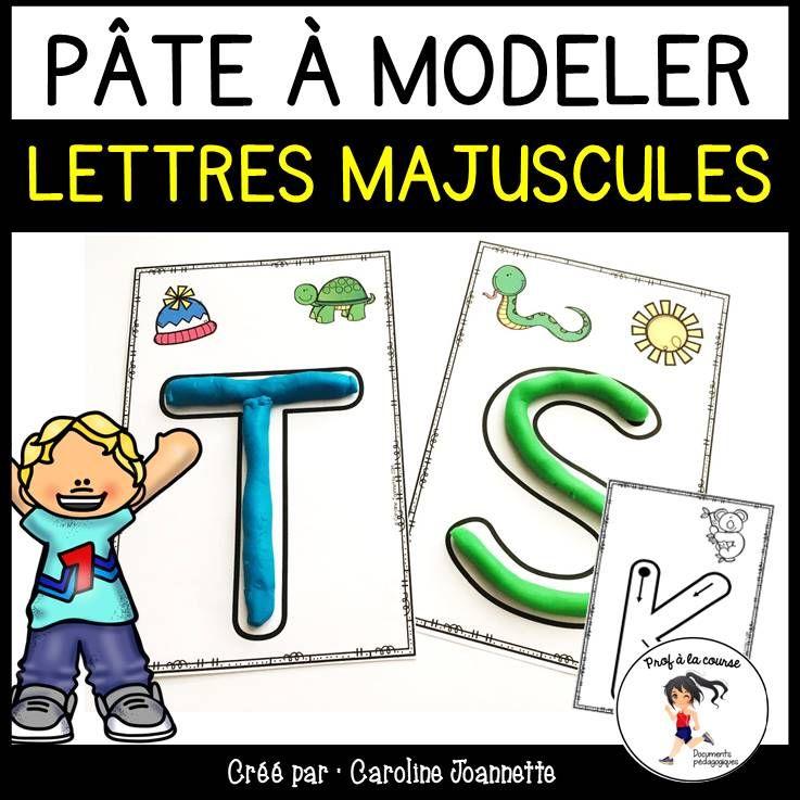 French Alphabet Playdough Mats / Cartes De Pâte à Modeler