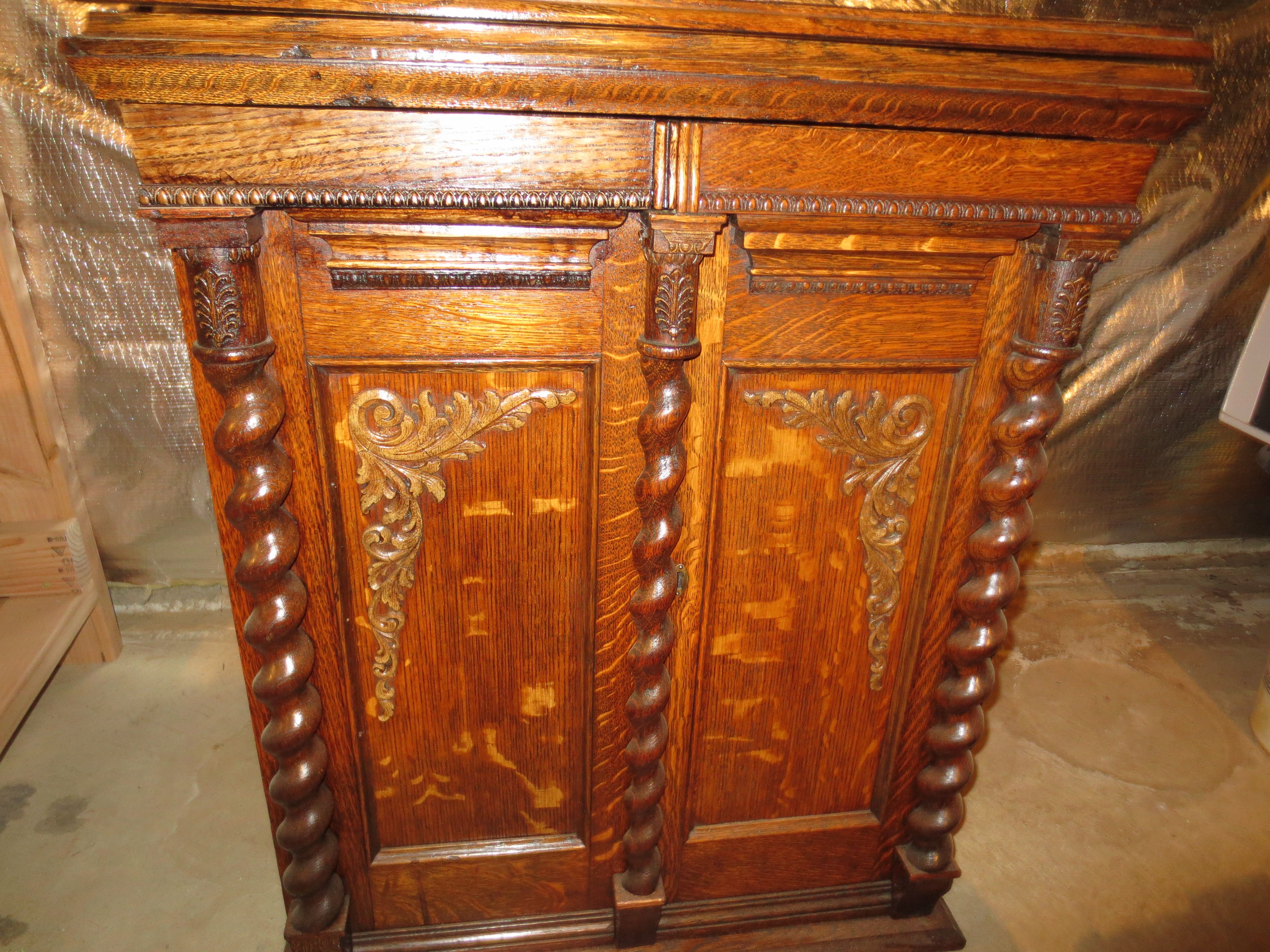 Early 1900s Oak Treadle Parlor Sewing Machine Cabinet (after ...