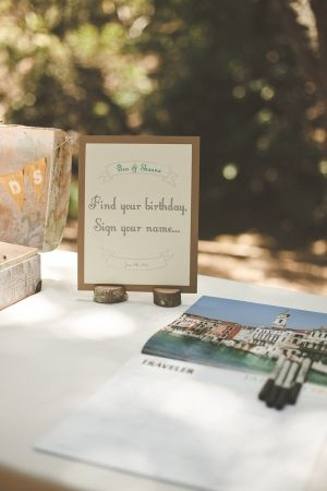 love this idea of having guests sign in on a calendar, right on their birthday for the next year :) // photo by VentolaPhotography.com