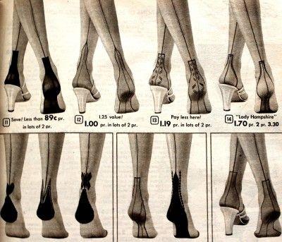b69b3025ea5e7 Retro Vintage Seamed Stockings- 1930s, 1940s, 1950s Styles. These charming  heel designs