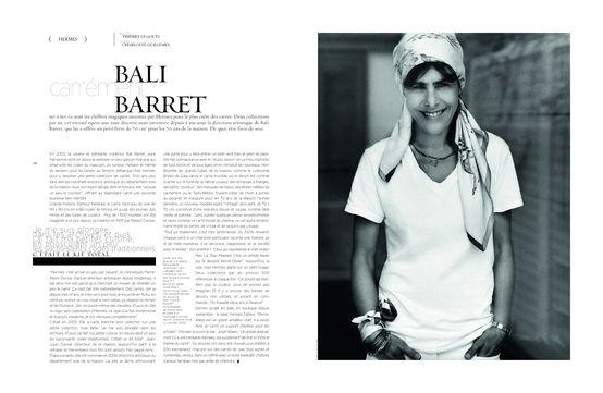Bali Barret bali barret, déléguée de l'univers féminin d'hermès, propose de