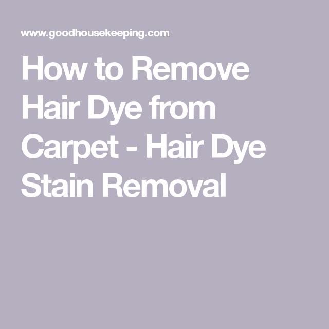 How To Clean Hair Colour From Carpet Carpet Vidalondon