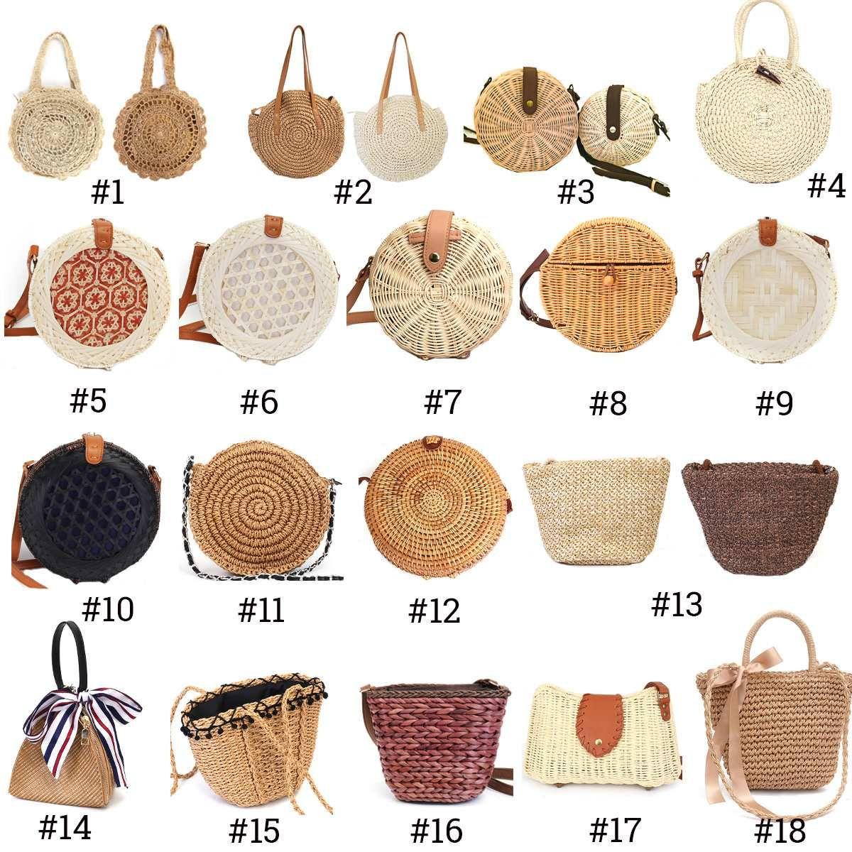 Beach Straw Bags for Women 2019 Summer Rattan Bag Handmade Woven Beach Bag Bohem