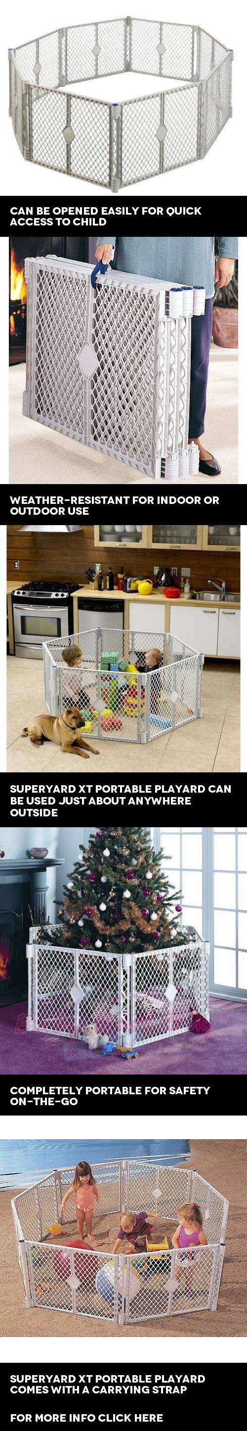 North States   Superyard XT Portable Playard, Designed For Both Indoor And  Outdoor Use,