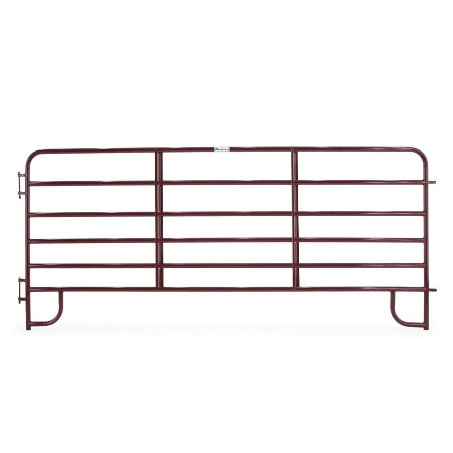 Tarter 5 Ft H X 12 Ft W Red Steel Containment Fence Panel Lowes Com Fence Panels Farm Fence Steel Paint