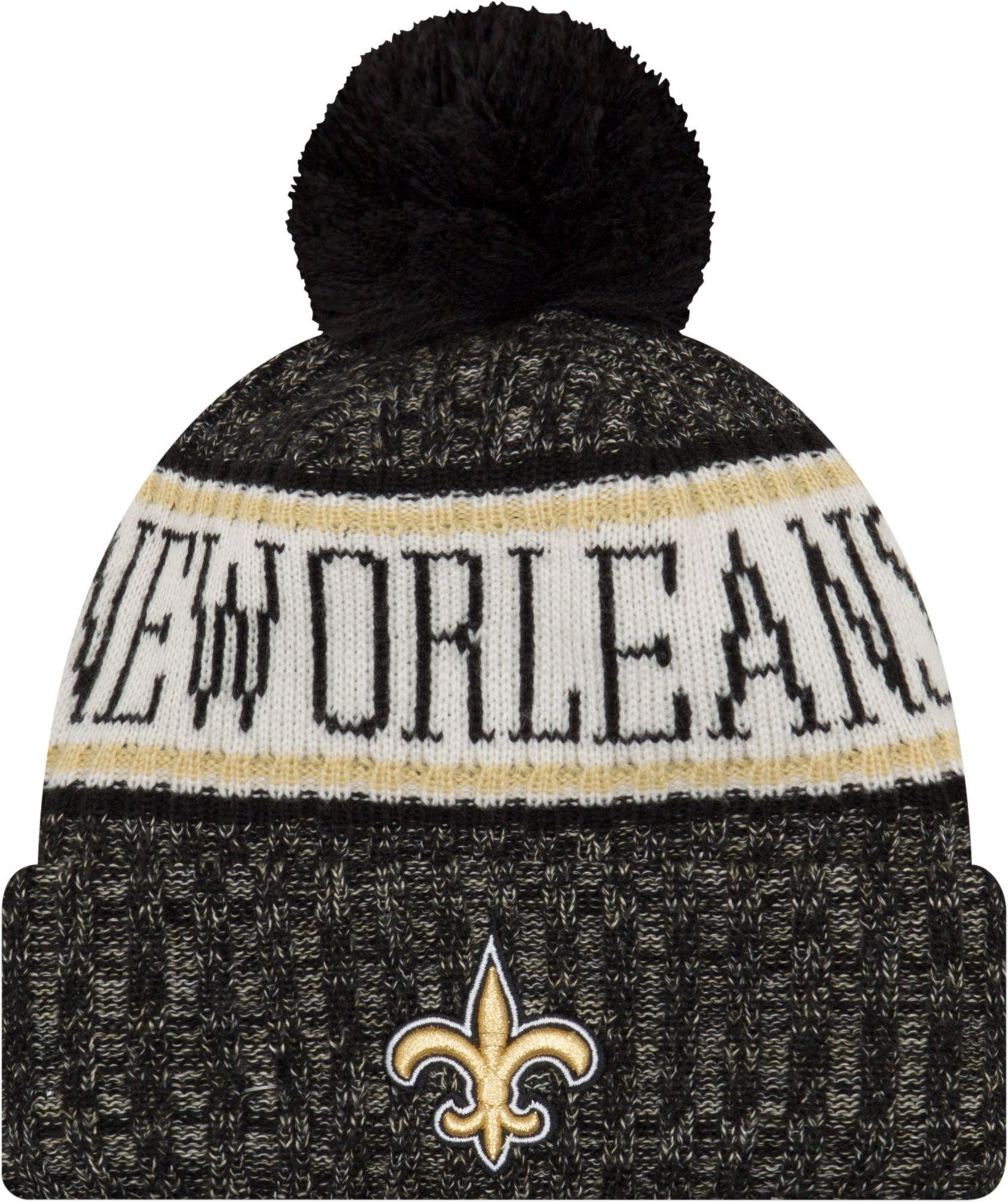 40927e2ab New Era Men s New Orleans Sideline Cold Weather Black Sport Knit ...