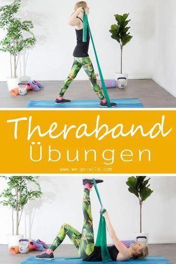 Mit Theraband Übungen kannst du deinen gesamten Körper trainieren und stärken. Klicke hier für das u...