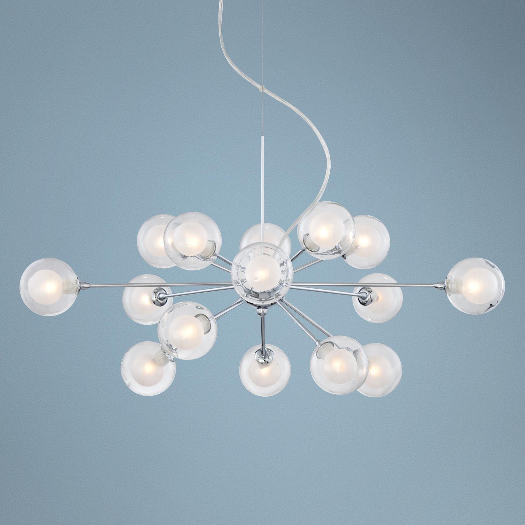 """Euro Chandelier Lighting: Possini Euro Spheres 30"""" Wide 15-Light Sputnik Glass"""