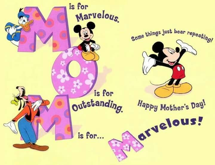 Mother S Day Mickey Mouse Happy Mother Day Quotes Happy Mom Day Happy Mothers Day Images