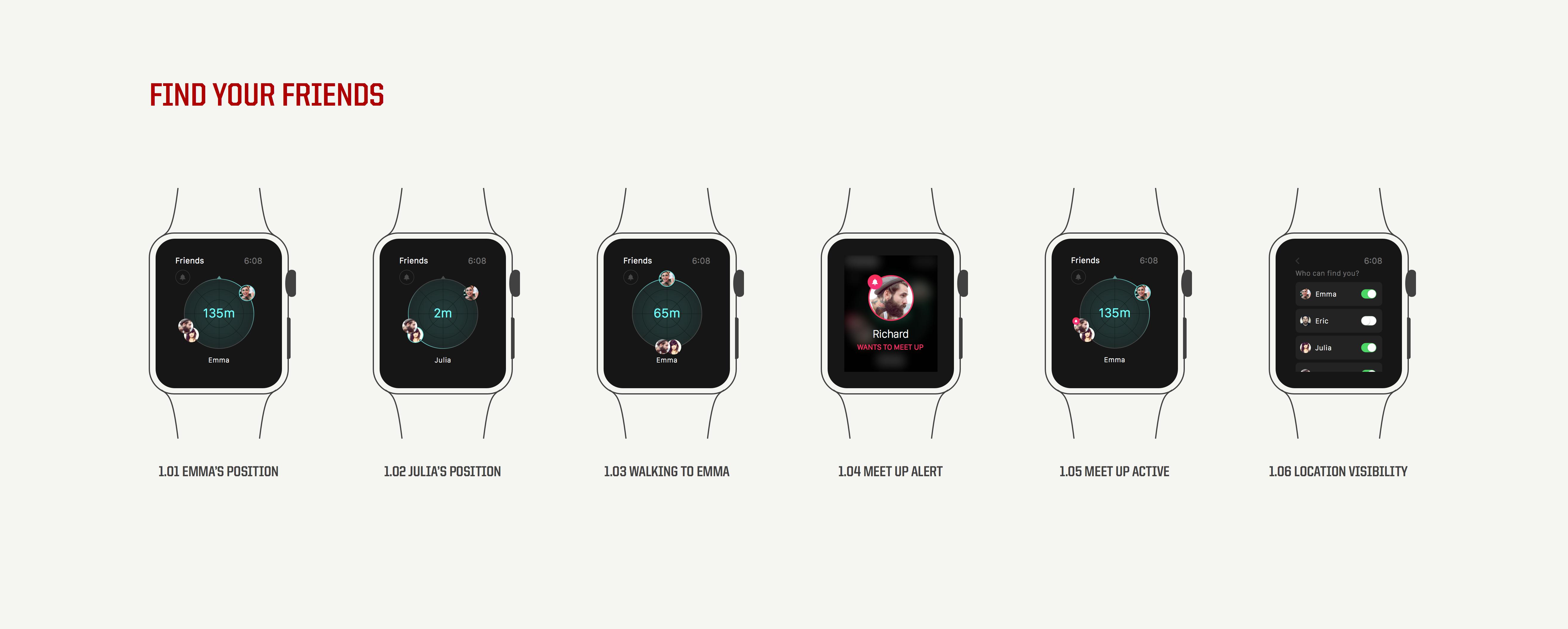 Apple Watch Find Your Friends Alex Deruette