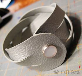 The Craft Patch: Braided Leather Cuff Bracelet TUTORIAL