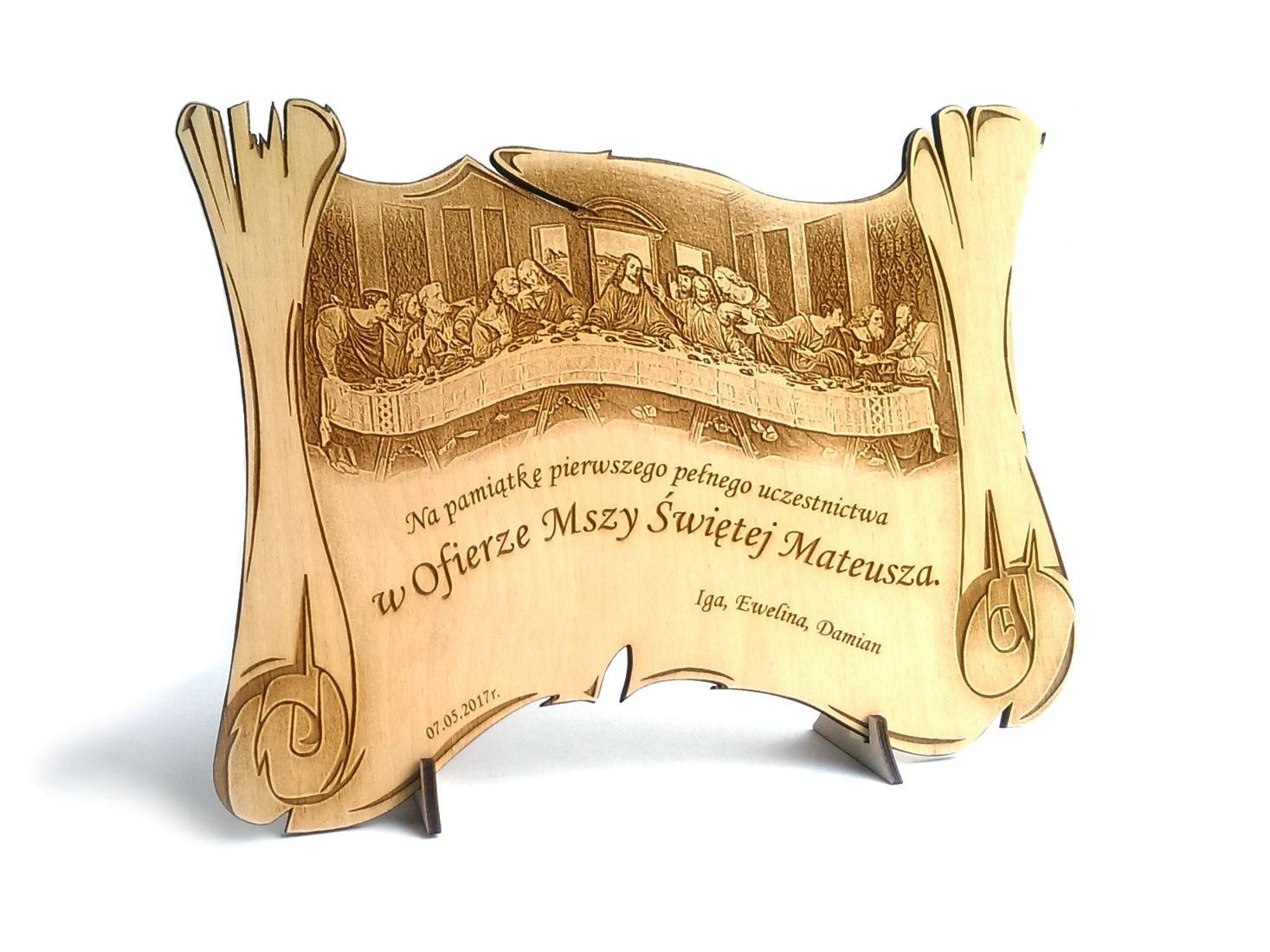 Pamiatka I Komunii Swietej Grawer Drewno Ks4 7293827716 Oficjalne Archiwum Allegro Wooden Christmas Decorations Christmas Decorations Wooden
