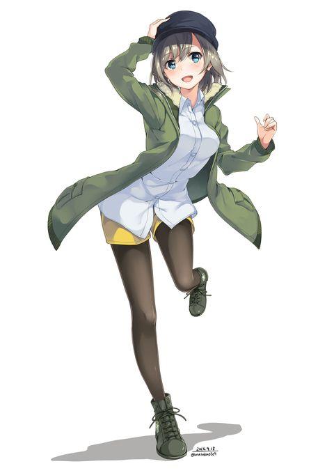 ミリタリジャケットちゃん うなさか のイラスト pixiv アニメの女の子 アニメファンタジー カワイイアニメ
