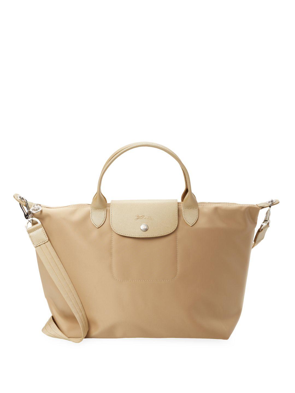 LONGCHAMP LE PLIAGE NYLON MEDIUM SHORT HANDLE TOTE.  longchamp  bags  canvas   tote  leather  shoulder bags  hand bags  nylon   a03829be1a90f