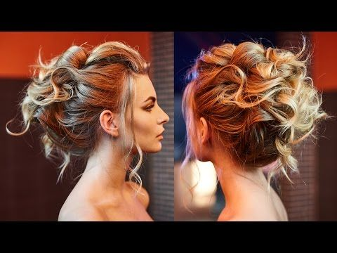 Air Texture Of Curls Wedding Updo YouTube Hair Pinterest - Bridesmaid updo youtube