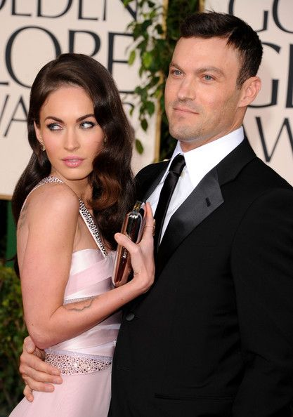 62179f1dc Actress Megan Fox (L) and actor Brian Austin Green arrive at the 68th Annual  Golden Globe Awards held at The Beverly Hilton hotel on January 16